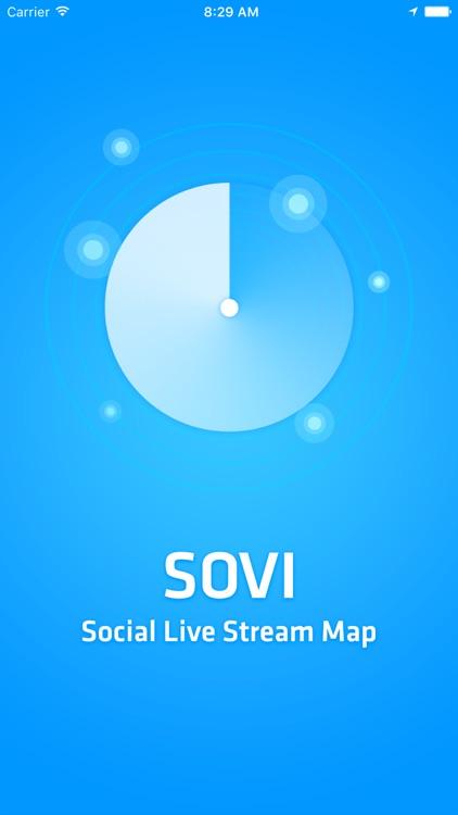 Sovi - Social Live Stream Map
