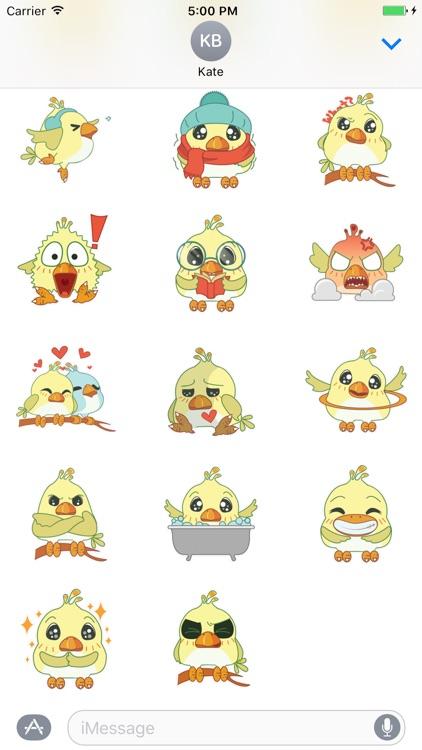 Silly Bird Sticker