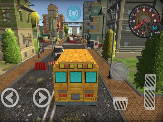 Pixel School Bus Free Style Driving screenshot 1