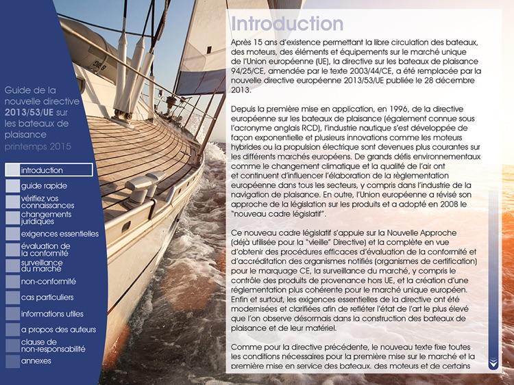 Guide sur la directive UE bateaux de plaisance