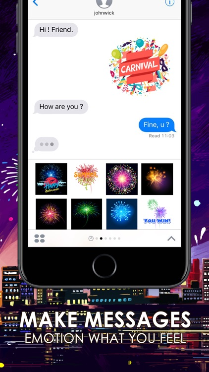 Fireworks Emoji Stickers Keyboard Themes ChatStick