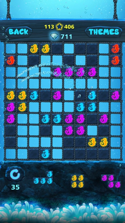 Block Puzzle: Ocean style,Popping bubbles screenshot-0