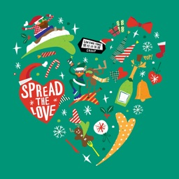 Spread the Love Christmas Stickers