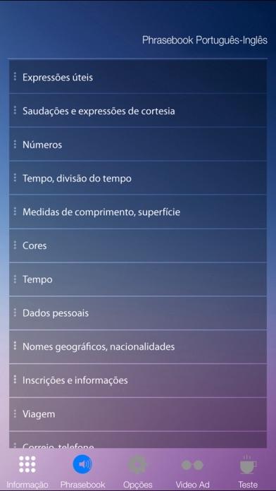 Aprender Inglês Áudio Curso Vocabulário Gramática screenshot two