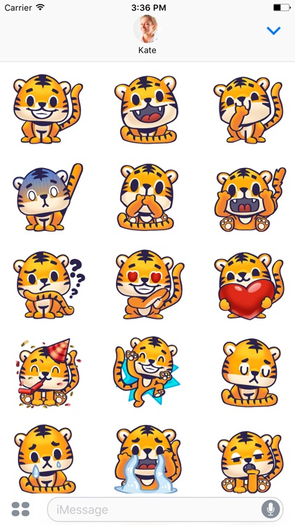 Rawai Tiger - baby tiger stickers for kids park screenshot-4