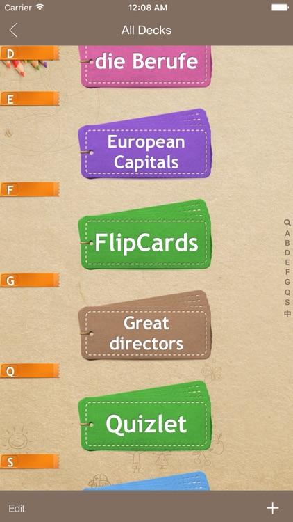 FlipCards - Flashcard app for memory training