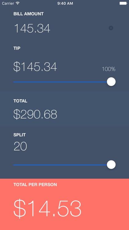 SPLIT Tip Calculator screenshot-3