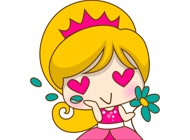 Princess Kayla for iMessage Sticker