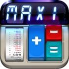 计算器 MaxiCalc Pro iPad:标准与科学模式,存储器 LCD 显示 icon