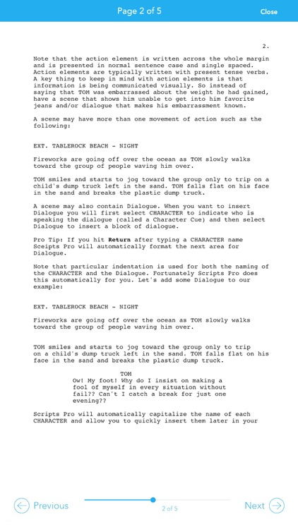 Scripts Pro - Screenwriting on the Go screenshot-4