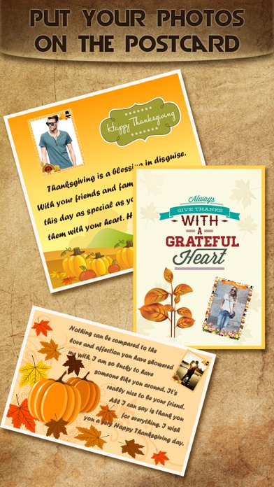 Holiday Greeting Cards FREE - Mail Thank You eCards & Send Wishes for American Thanksgiving Day screenshot two