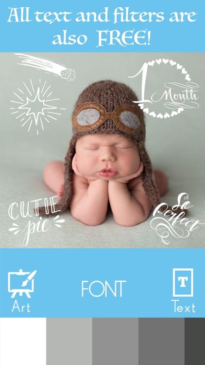 Baby Milestone Stickers Pregnancy Pic Editor Maker