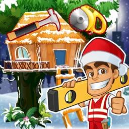 Santa's Christmas Treehouse Builder