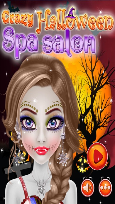 Crazy Halloween Salon for Girls - Kids game screenshot one