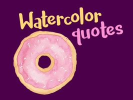 Send funny and inspirational quotes with hand-painted watercolor artworks
