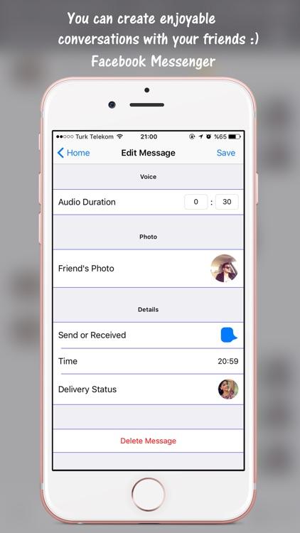 Prank Chat for Facebook screenshot-3