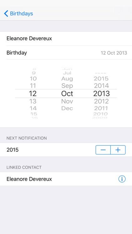 Birthday Memo screenshot-3