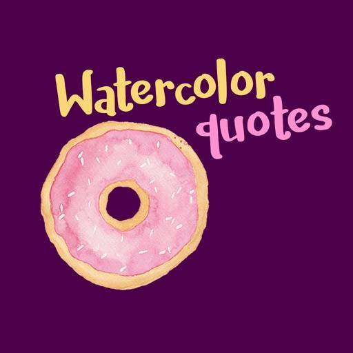 Watercolor Quotes Stickers by Maraquela