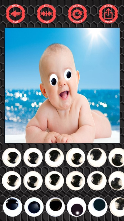 Googly eyes sticker - photo editor crazy eyes screenshot-3