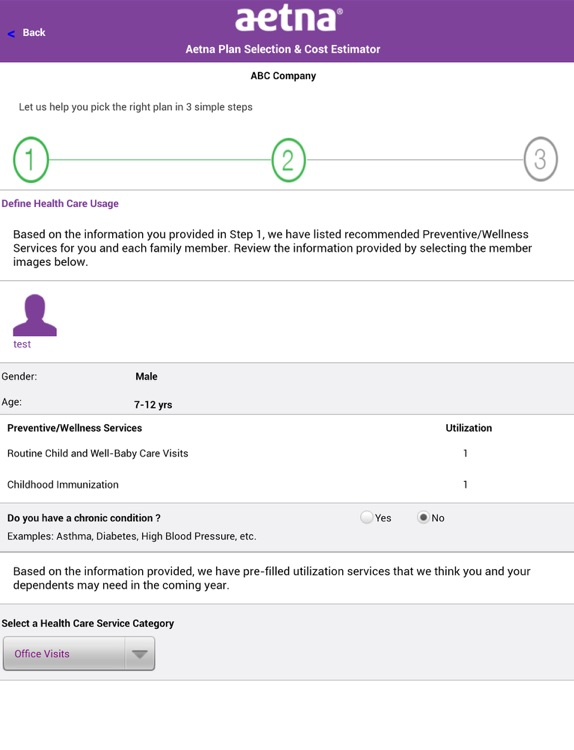 Aetna Plan Selection for iPad screenshot-2