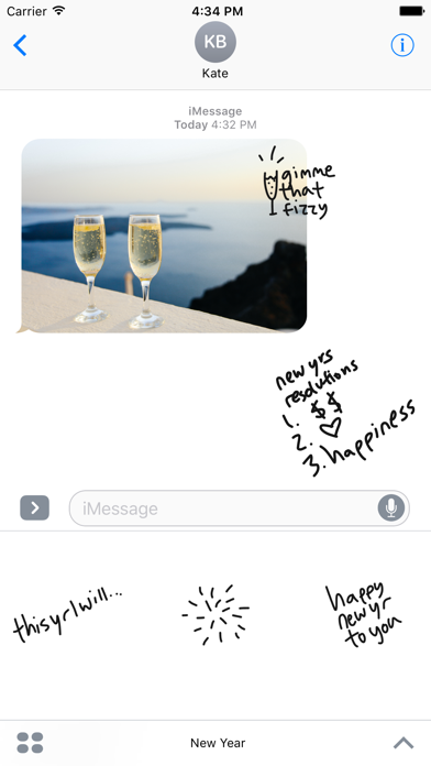 New Year Countdown sticker - stickers for iMessage