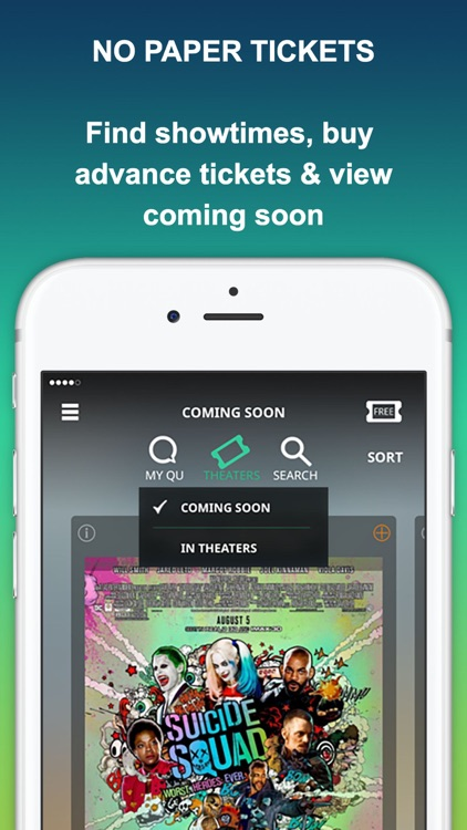 MOVIEQU: Save Upcoming Movies & Movie Theaters Tix screenshot-2