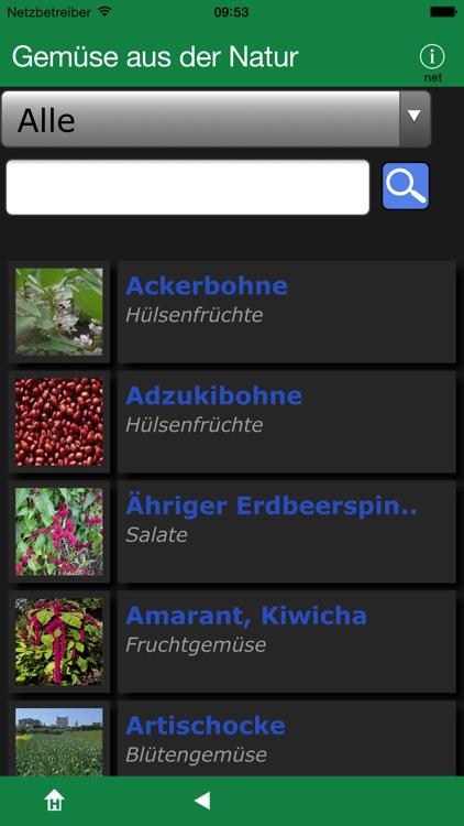 Gemüse aus der Natur