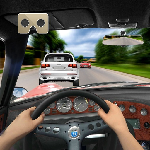 Vr Airborne Car Racer : 3D Virtual Reality 2016