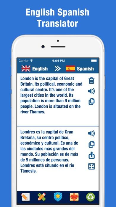 English to Spanish Translator and Dictionary Screenshot on iOS