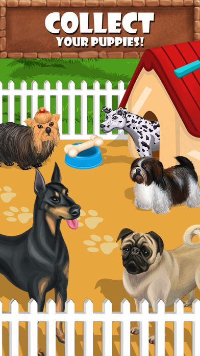 Puppy Care - puppies feed, breed, battle pet games screenshot two