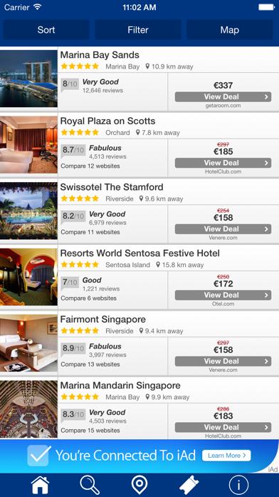 Singapur Hoteles + Compara y Reserva de hotel para esta noche con el mapa y viajes turísticosCaptura de pantalla de3