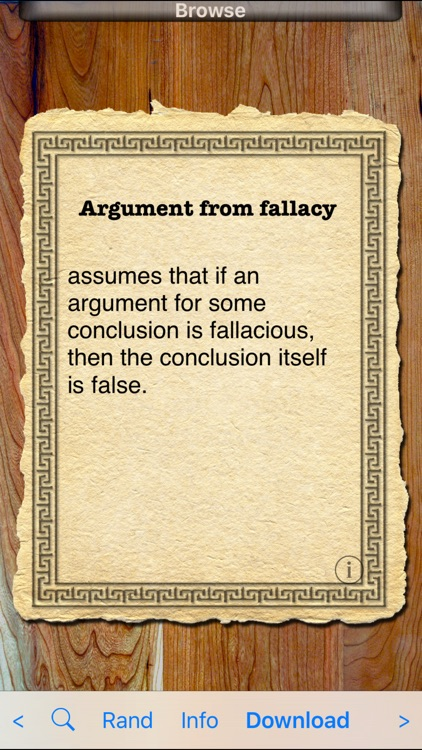 Fallacies of Logic