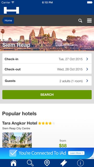 Ciudad de Siem Riep Hoteles + Compara y Reserva de hotel para esta noche con el mapa y viajes turísticosCaptura de pantalla de1
