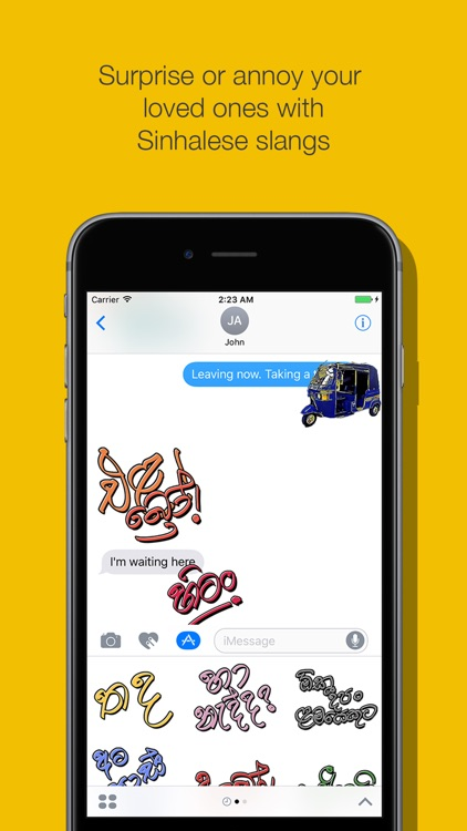 Lankan Stickers - Popular Sinhala words for chat screenshot-4