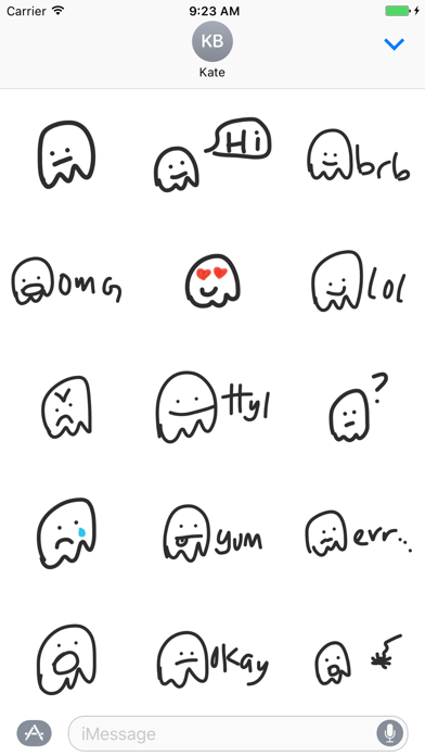 Jelly sticker pack - speech stickers for iMessage screenshot two