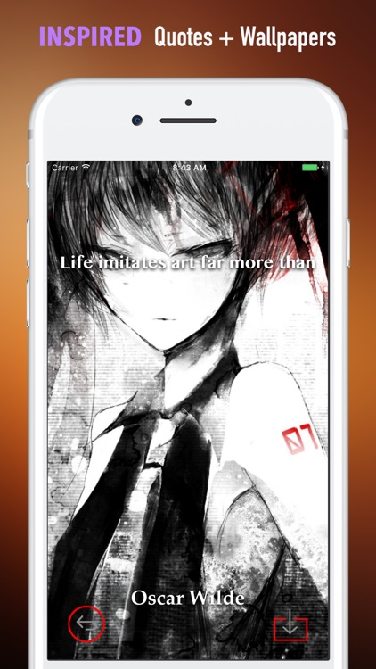 Black And White Anime Wallpapers HD-Quotes and Art screenshot-4