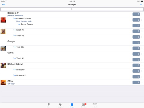Items & Storage & Inventory Screenshots
