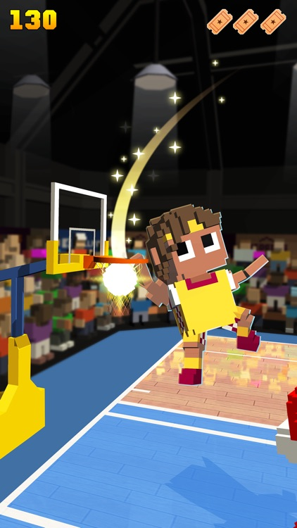 Blocky Basketball - Endless Arcade Dunker screenshot-3