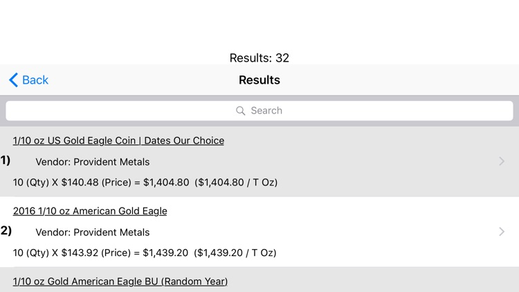 Precious Metals Price Shopper screenshot-3