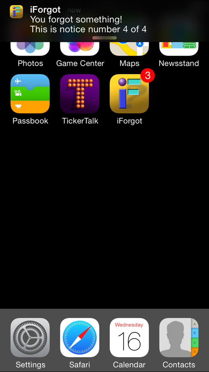 iForgot Screenshot