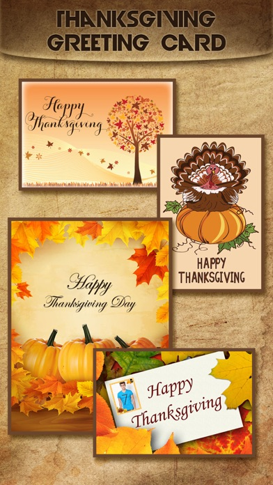 Holiday Greeting Cards FREE - Mail Thank You eCards & Send Wishes for American Thanksgiving Day screenshot one
