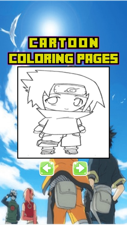 Cartoon Characters Coloring Page Naruto Edition By Rorenzo Doni