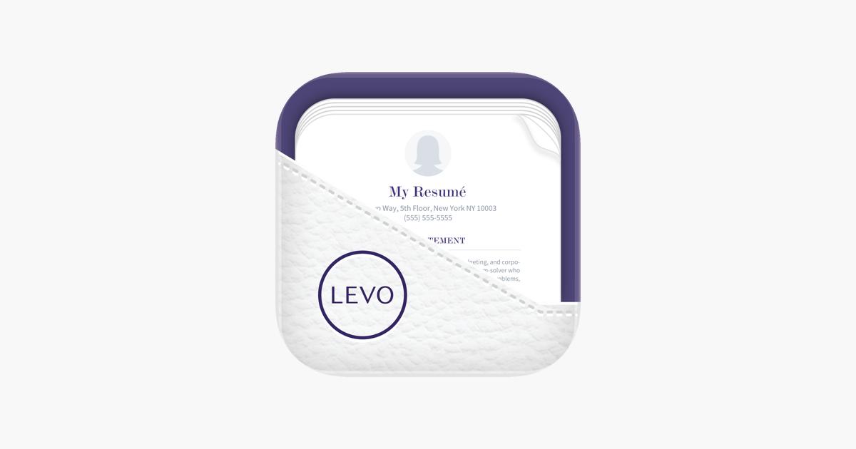 levo resume on the app store