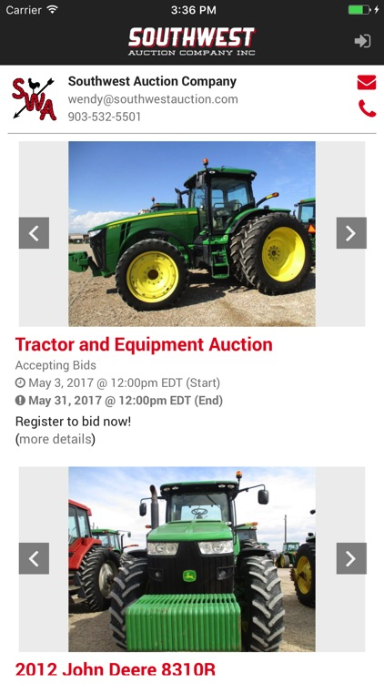 Southwest Auction screenshot-2