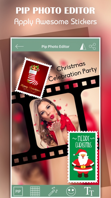 Pip Photo Editor, stickers