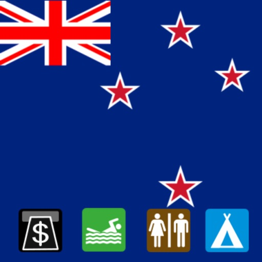 Leisuremap New Zealand, Camping, Golf, Swimming, Car parks, and more