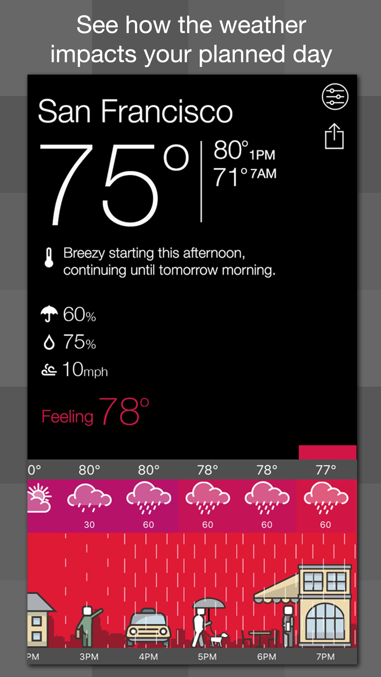 A Weather Way - See yourself under the weather Screenshot