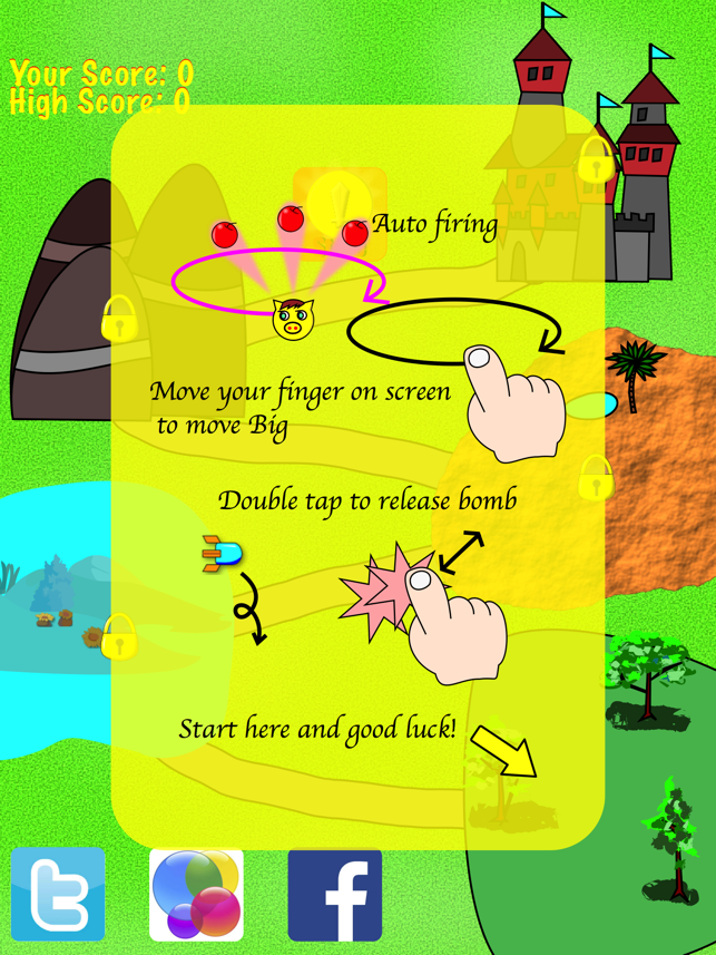 Big Pig To The Rescue Lite Edition- cute exciting shooting game with vertical scrolling bullet hell!, game for IOS