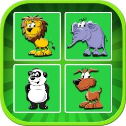 Animal Memory Matching Game For Kids