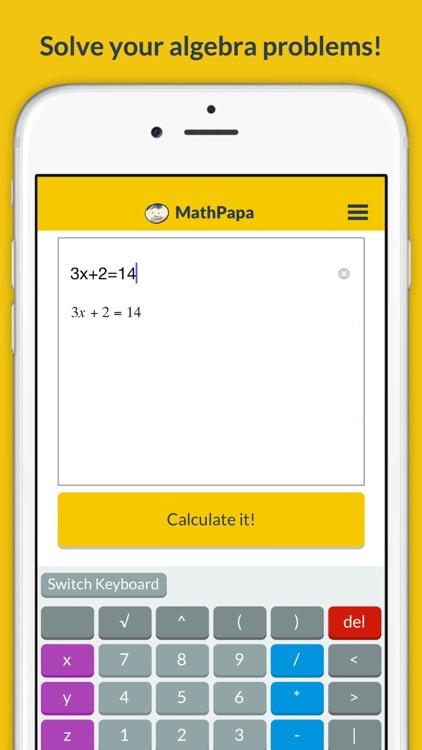 MathPapa - Algebra Calculator & Equation Solver App